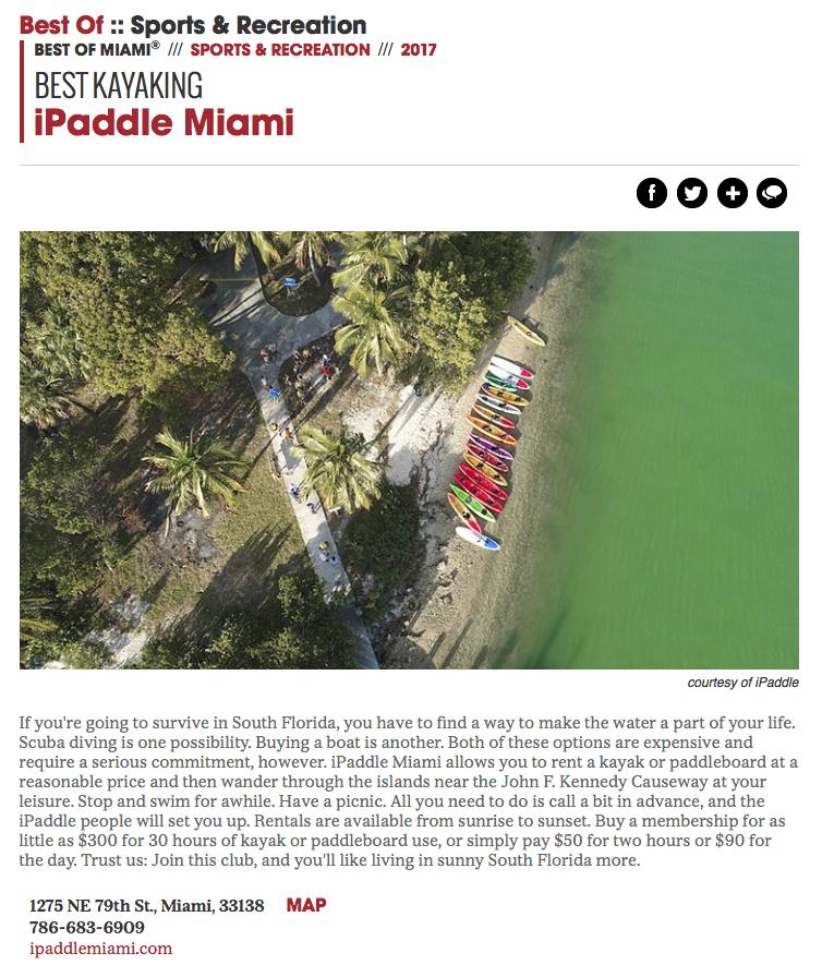 best kayaking miami iPaddle Miami New Times