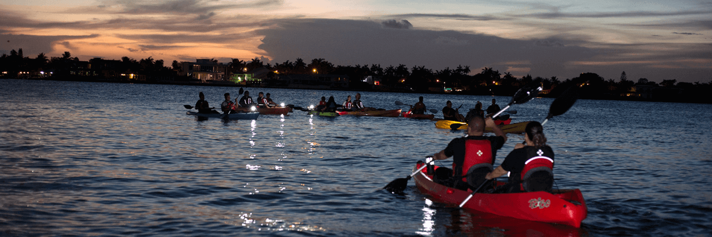 Night time tour Kayak & Paddle Board Miami