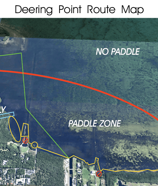Route Map - Kayak and SUP Route - iPaddle Miami